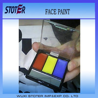 red yellow blue face paint set