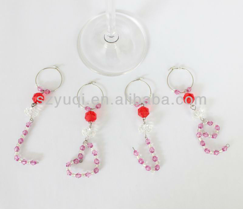 Fashional style celebrate bridal party wine glass charms
