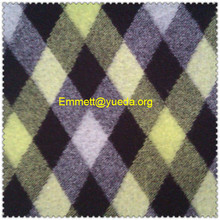 black yellow grey colours plaid check designs boiled wool fabric