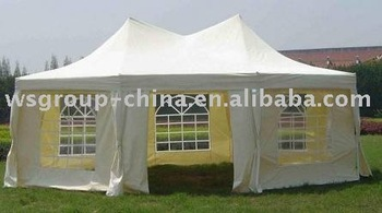 Octagonal party tent in polyester with pvc buy gazebo pavilion