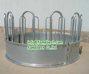 Round bale feeders Animals Hay Feeder for cattle and horse bale hay feeder