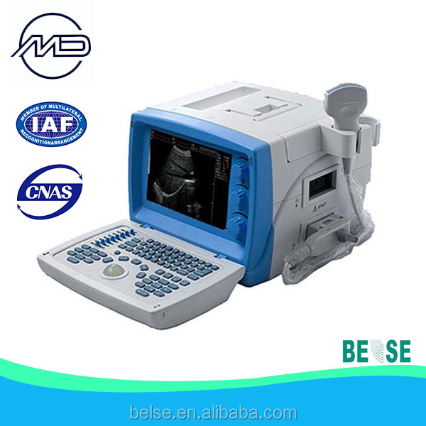 Full digital ultrasound workstation with double monitor and printer