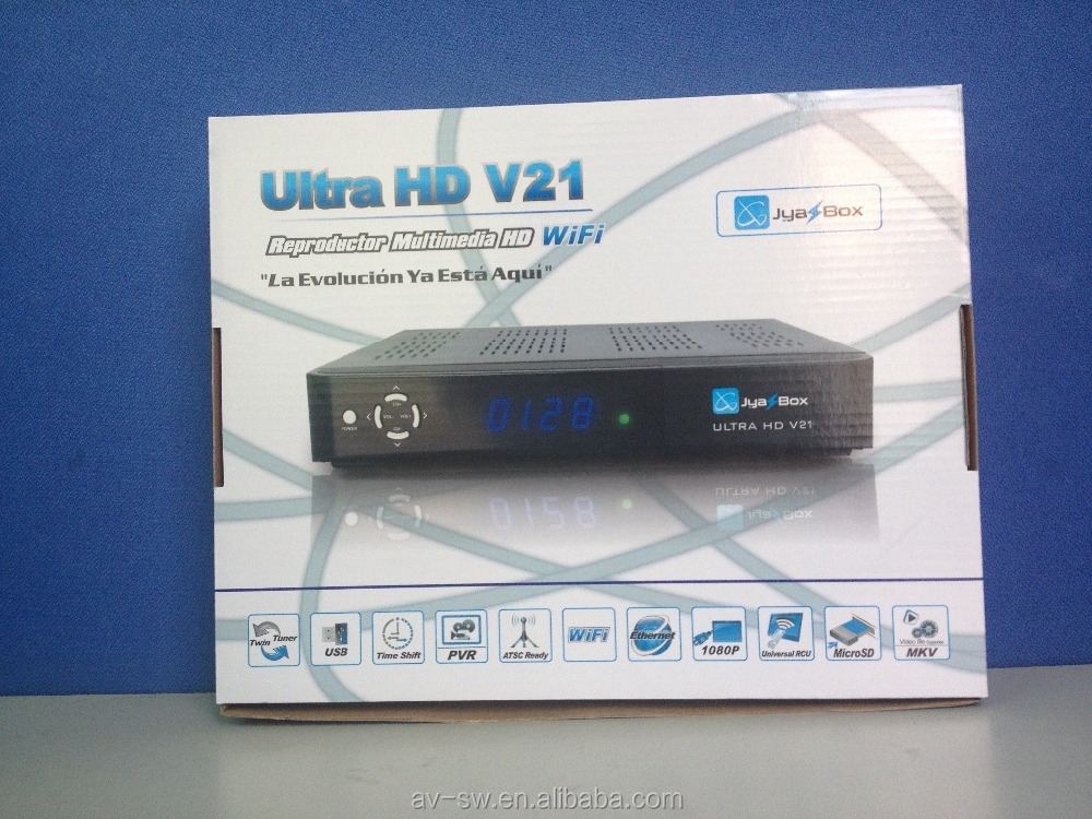 Final discount for <strong>HD</strong> 1080p fta <strong>satellite</strong> <strong>receiver</strong> jyazbox ultra <strong>hd</strong> v21 with jb200 module and wifi