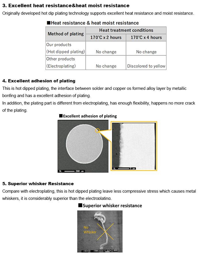 NF Kawat Solder Panas Dicelup Kawat Tembaga Telanjang Dibuat Di Jepang
