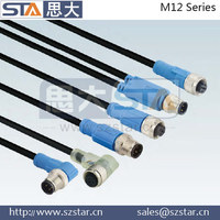 IEC 62439-3 PRP standard M12 5pin Ethernet /IP Internet waterproof cable connector
