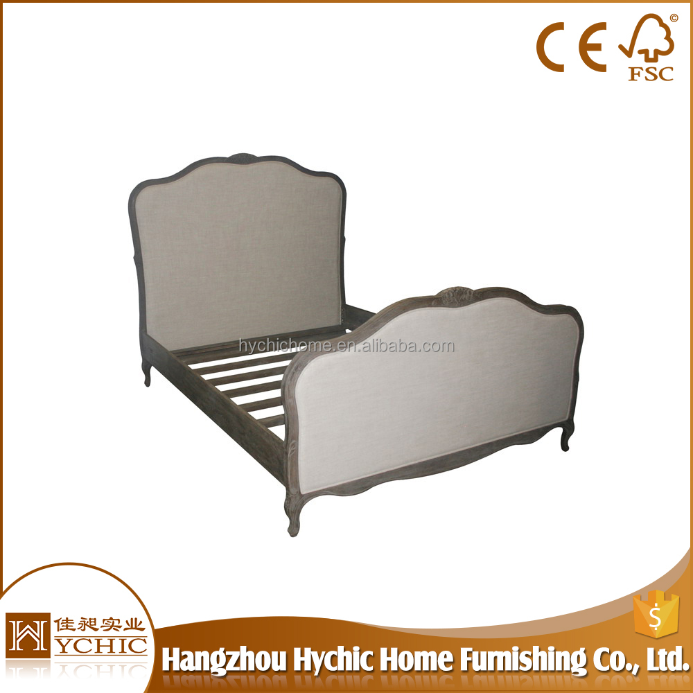 OEM french style round modern queen size for bedroom high quality king hotel bed