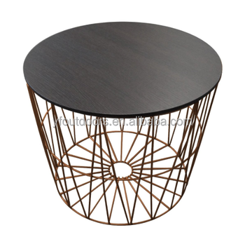 Decent Home Accent Network Wire Base Coffee Side Table End Sofa