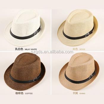 84446c826ef0d Bébé été chapeau de paille fedora chapeau de paille fedora panama ...