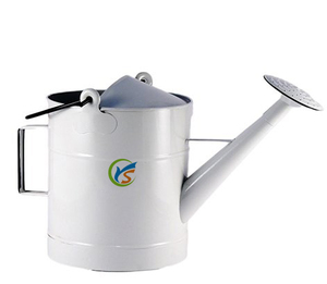 Large White Round Enamel Watering Can