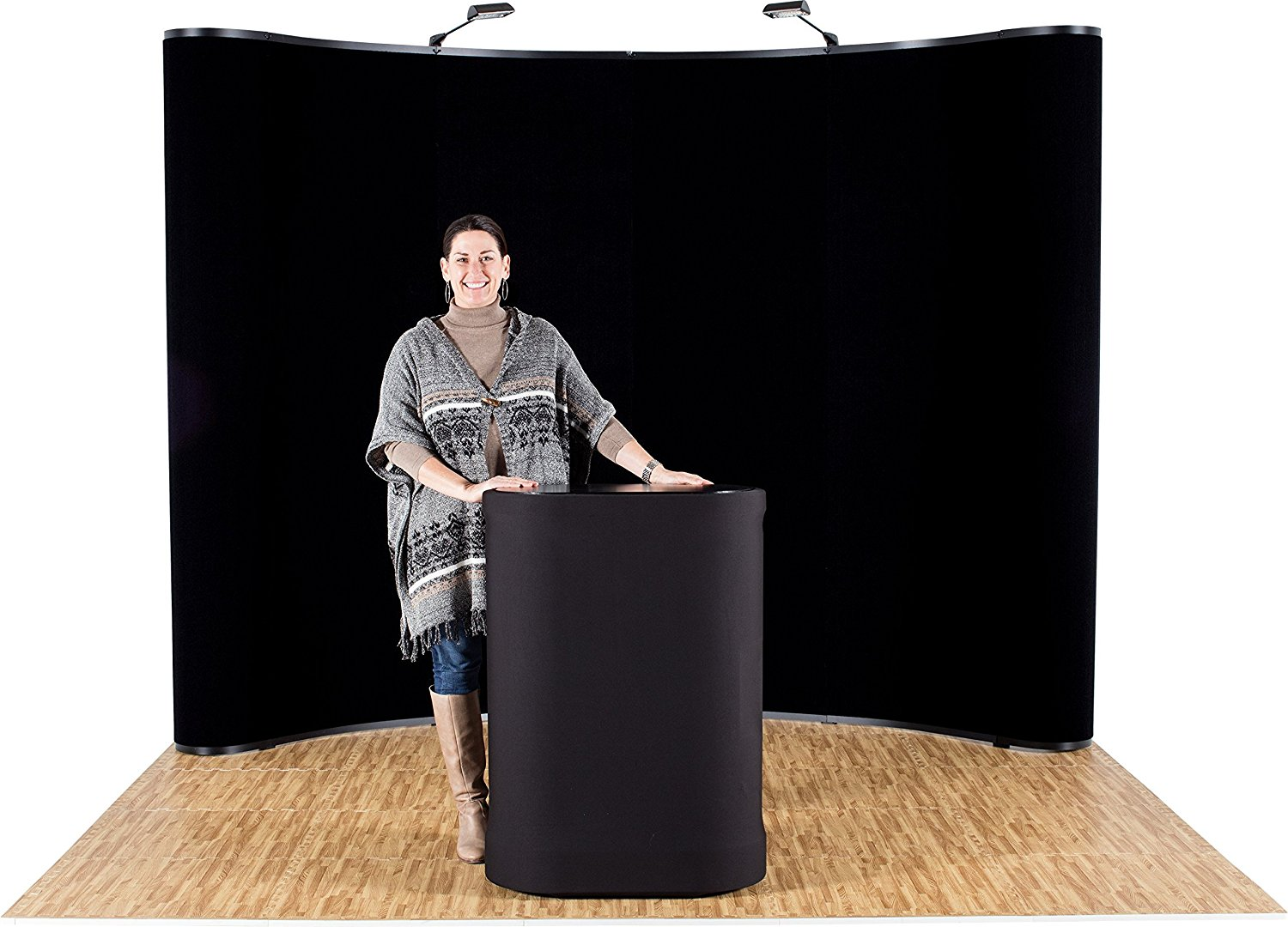Ace Exhibits - 10' x 8' CURVED POP UP DISPLAY - Trade Show Display Exhibit Booth - Tradeshow Backdrop - Tradeshow Displays - Trade Show Booth Display - Pop Up Exhibit Backdrop Exhibit Stand
