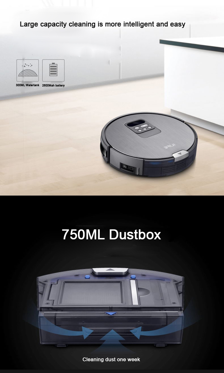 As Seen On Tv 2017 Home Chuwi Ilife X750 Car Vacuum Robot With Largest  750ML Dust