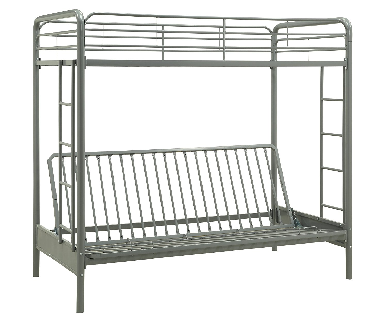 Get Quotations Dorel Home Products Twin Over Full Futon Bunk Bed Silver Color