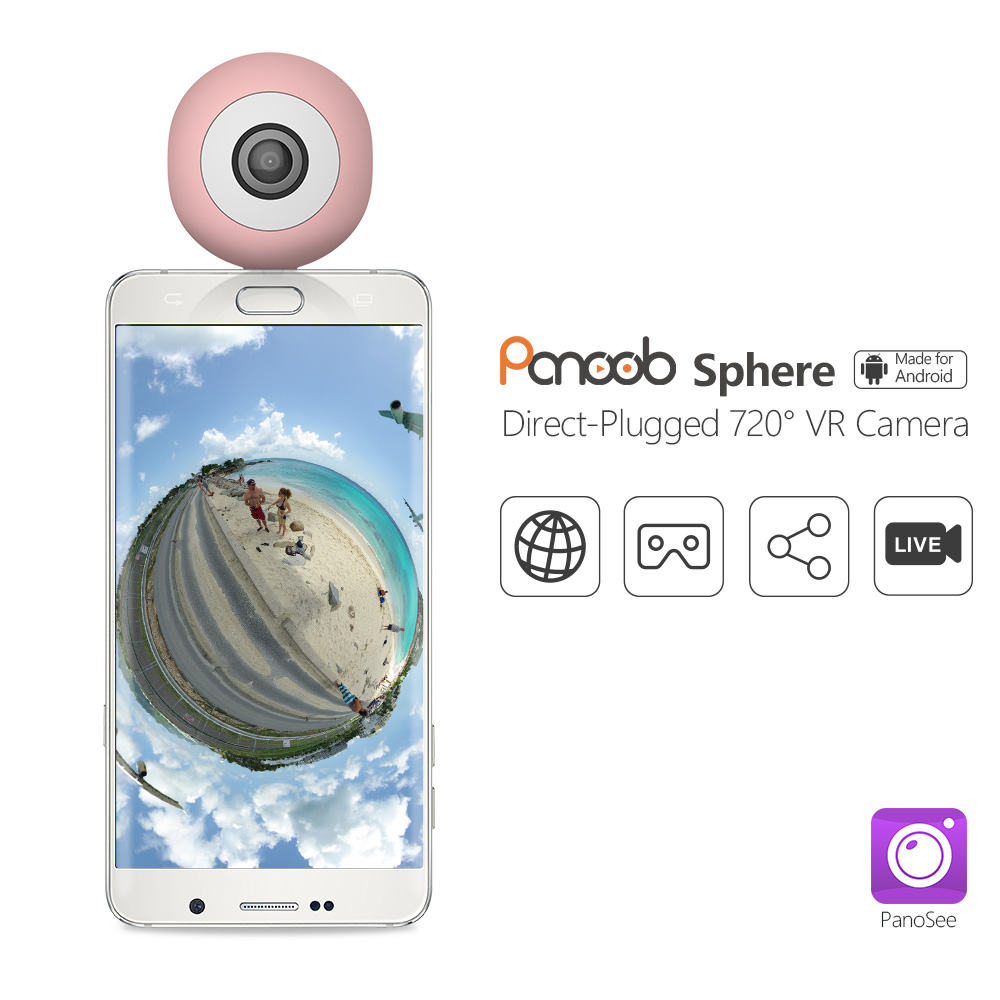 720 HD Panoramic DV VR mini 360 degree dual fisheye lens vr <strong>camera</strong> for Android cell phone