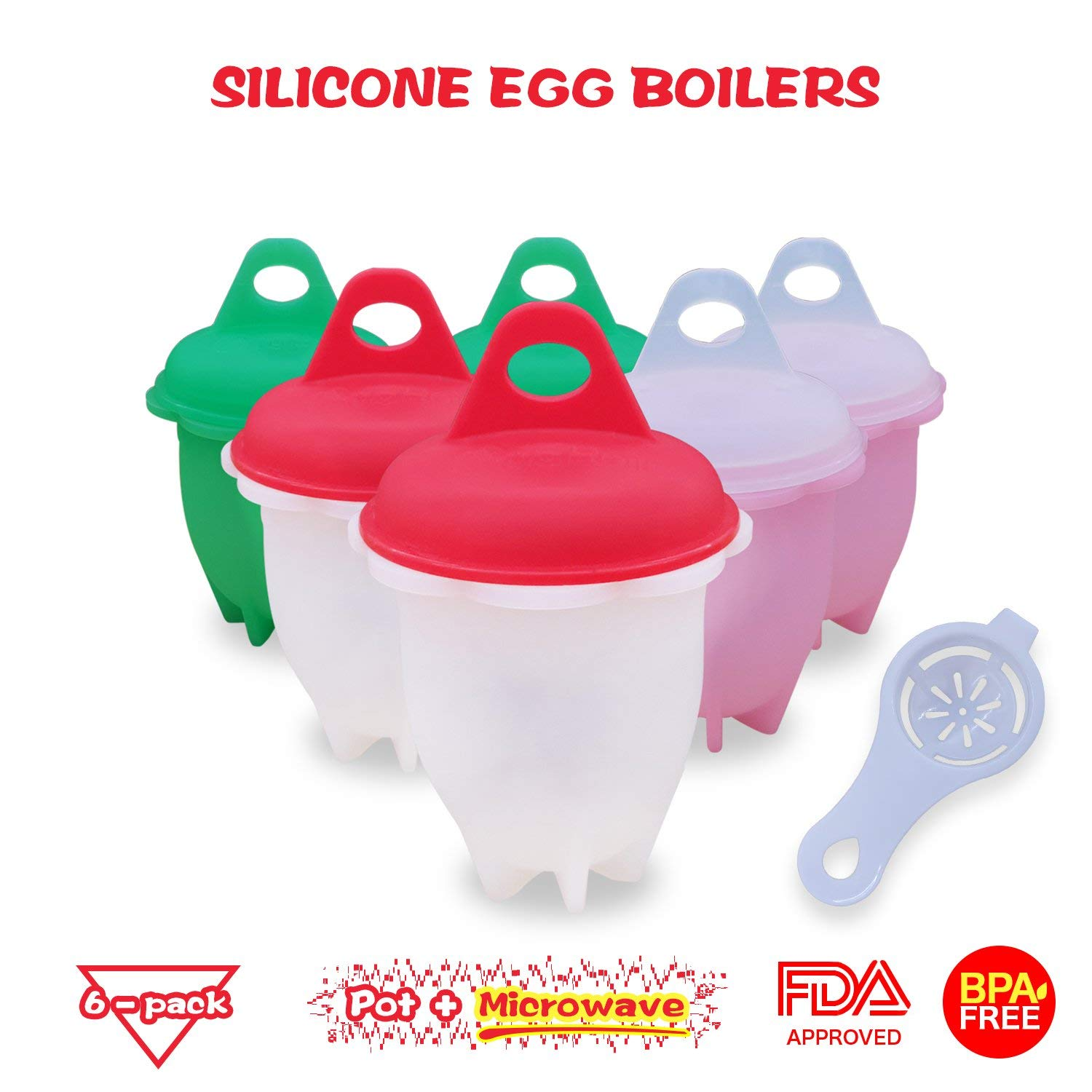 Food-Grade Non Stick Silicone Egg Cooker   BPA Free Egg Boiler   Egg Poacher Without Shell   High Temperature Resistant Egg Boil Cup For All Pots & Microwave