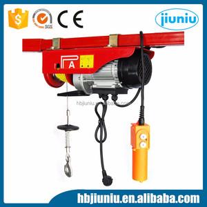 Easy operation 220V mini electric wire rope hoist 100kg 250kg 500kg 800kg  for sale
