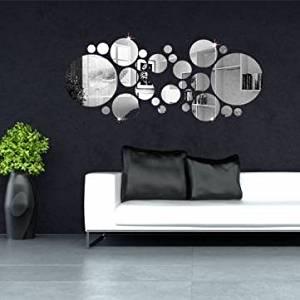 30pcs 3D Circle Mirror Wall Stickers Acrylic Vinyl Decal Home Art Decor