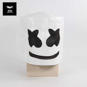 2019 New Halloween Party Props Helmet Hard Latex Solid Masks Cute Halloween Mask Cosplay DJ Marshmello Party Mask