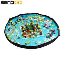 2017 custom children play mat with drawstring,Toy storage bag organizer