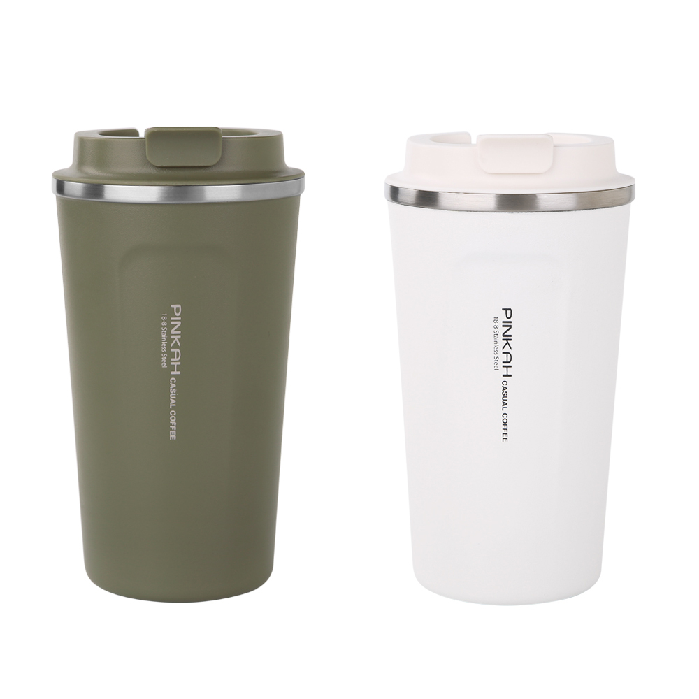 ee4ec47b895 PINKAH 510ml no spill eco double wall vacuum coffee travel mug insulated  tumbler stainless coffee cup