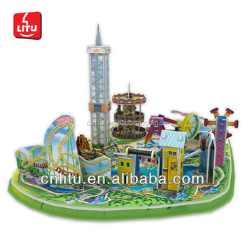 9533 HAPPY VALLEY 3 3D CARTOON SCENE AMUSEMENT PARK DIY PUZZLE GAME