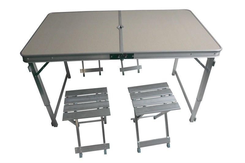 De aluminio plegable camping mesa y sillas mesas plegables - Sillas plegables de camping ...