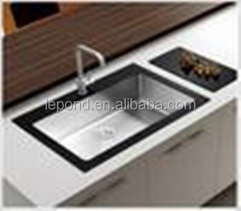 Premium Restaurant Kitchen Sink Bench With Temper Glass Top (bowl Size  500x500x280mm) - Buy Unique Kitchen Sink Tempered Glass And Stainless Steel  ...