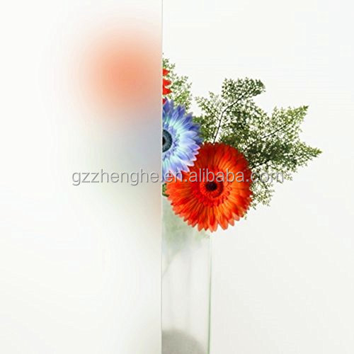 China suppliers PVC material decorative frosted window glass film for office use