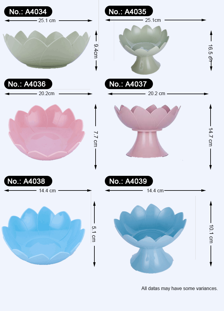Manufacturer clear  plastic durable dishes fruit plate