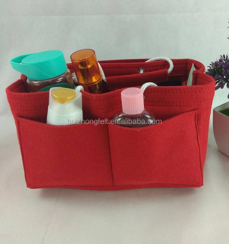 ad0c975079c6 Felt Cosmetic Purse Insert Bag Organizer,Travel Makeup Bag In Bag Tidy  Pouch,Multi Pockets 3 Sizes - Buy Felt Cosmetic Pouch,Makeup Travel  Bag,Funny ...