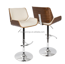 retro style kitchen breakfast faux leather swivel bar stools with backrest