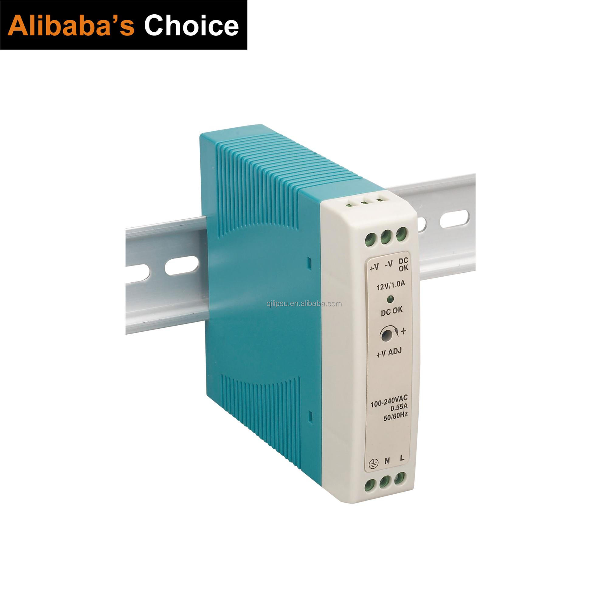 12V 0.84A 10W LIFETIME WARRANTY MINI DIN RIAL power <strong>supply</strong> CE ROHS