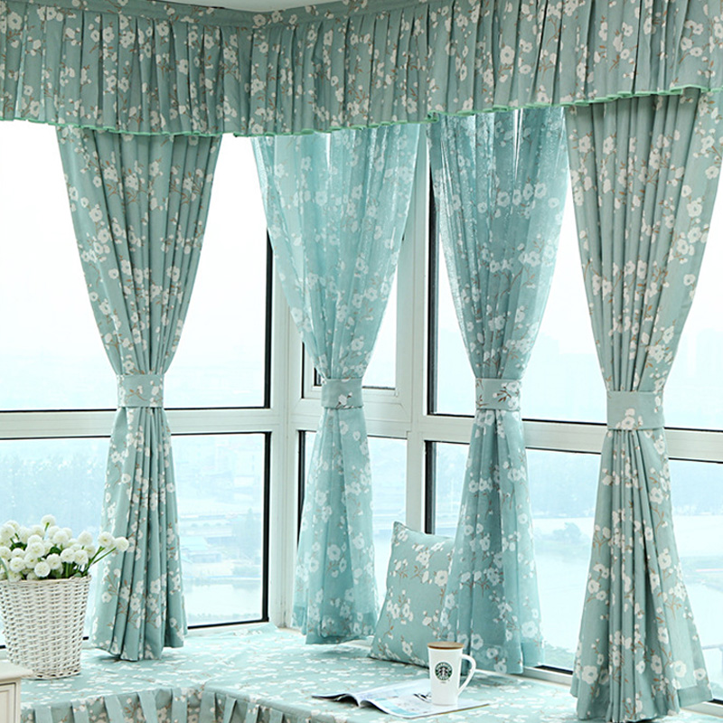Sala De Estar Fashion Curtains For Living Room Bay Window Conrtinas Para
