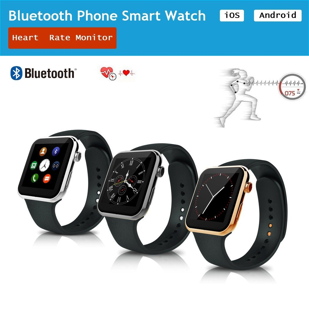 A9 Heart Rate Monitor Watch Adult Children Bluetooth Phone Smart Watch For iOS Android