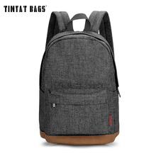 TINYAT Men Male Canvas College Student School Backpack Casual Rucksacks Laptop Travel font b Bag b