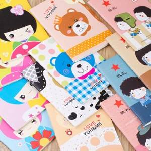 40pc Creative stationery cute mini cartoon notepad notebook diary book student prizes