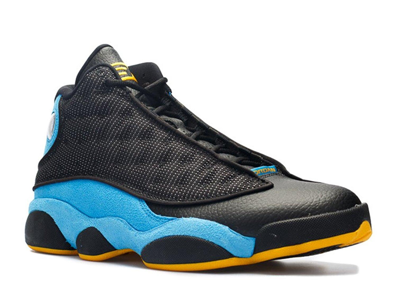 Tony Barnard Retro Basketball Shoe Air Jordan 13 Retro cp pe hornets Black sunstone orion blue 012326 2 Leather Basketball Shoes
