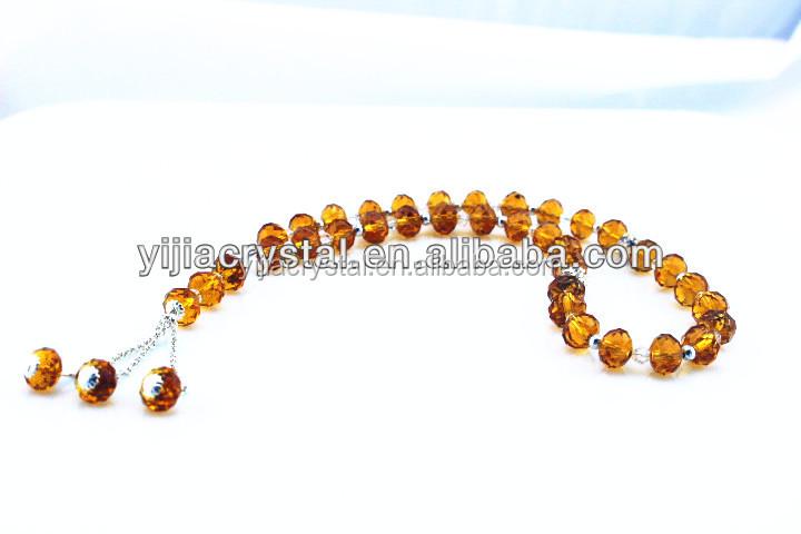 33 pcs beads islamic muslim prayer beads crystal prayer beads