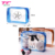 Custom Fashionable Carry Transparent Beach Bag Clear PVC Waterproof Beach Toiletry Bag With Logo