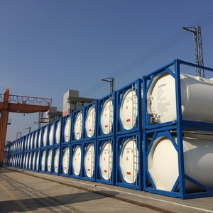 ISO tank container 20ft for transporting oxygen, nitrogen, argon, co2, lng on sea