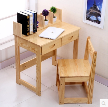 Kids Study Table Bedroom Furniture Set Wooden Educational Children Chairs And
