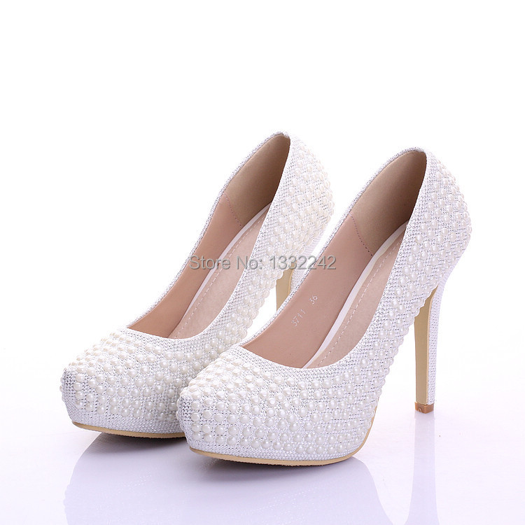 Get Quotations · Thin Heels Platform Shoes Sapatos Femininos Ladies Party Shoes  Women Pumps High Heels Shoes Bridal Wedding c7a64b18681b