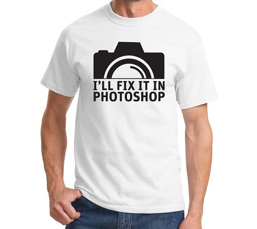Ill Fix It In Photoshop Mens T Shirt Photography Photographer Gift Camera Funny Geek Top Tee Summer Adults T Shirts Size S Xl