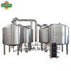 3000L 3-Vessel Brewhouse Stout Beer Production Machine