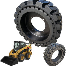 online shop china airless tire solid tire 385 65 22.5 for skid steer loader