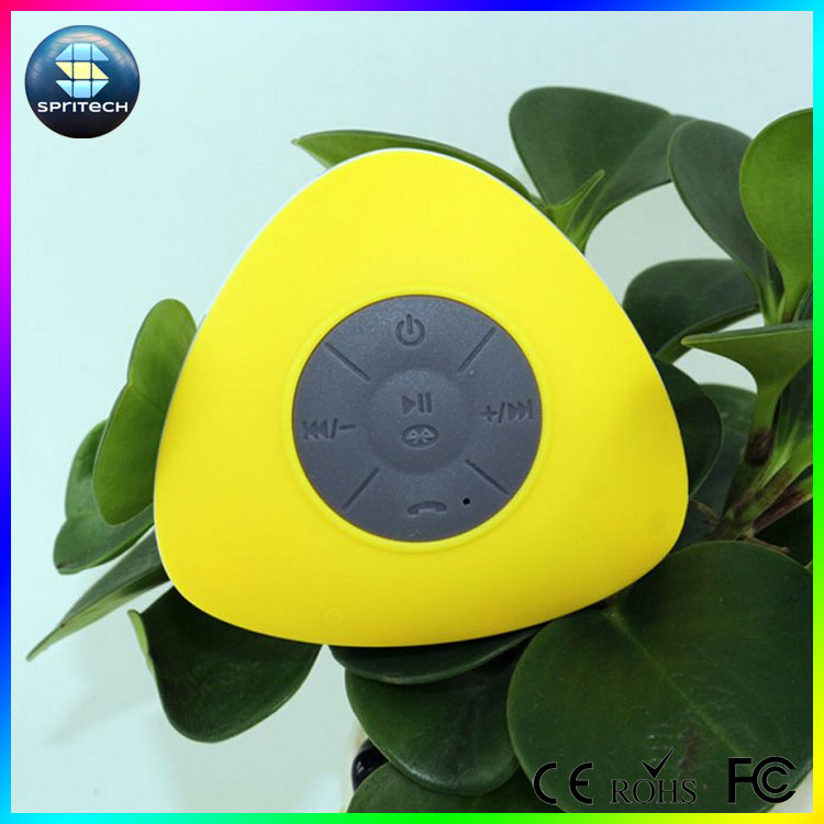 With suction cap and handfree waterproof bluetooth speaker