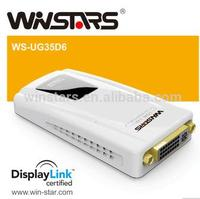 5Gbps USB 3.0 to DVI/VGA Multi-display adapters, Full HD 1080P video streaming