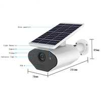 IP65 Solar Powered Wireless Home Security Camera Outdoor Smart Wifi IP Camera Wire-free Surveillance Camera