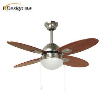 High quality foshan oscillating ceiling fan lamp 42 inch 4 wooden blade AC motor ceiling fans with lights