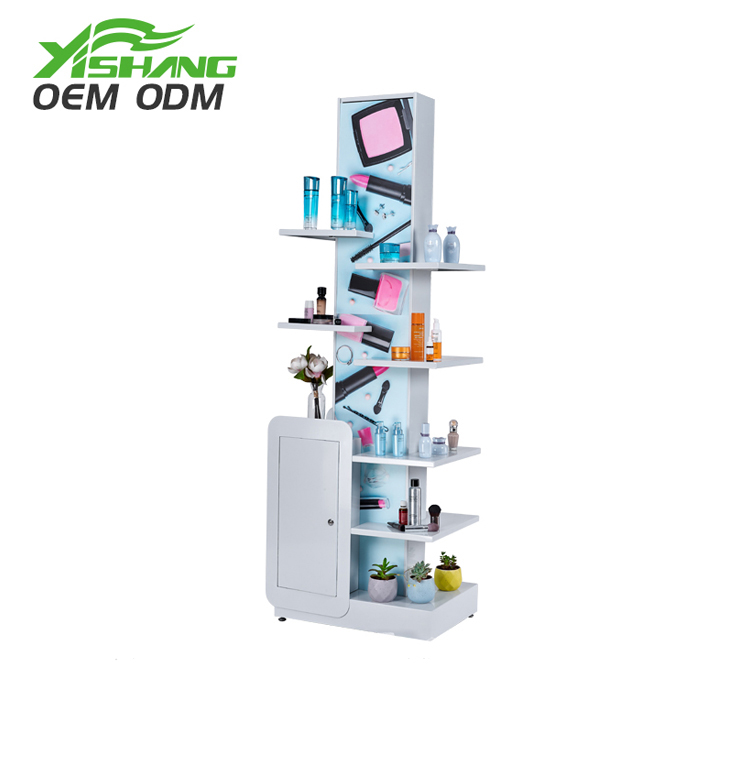 Customized supplier cosmetic makeup organizer display floor stand