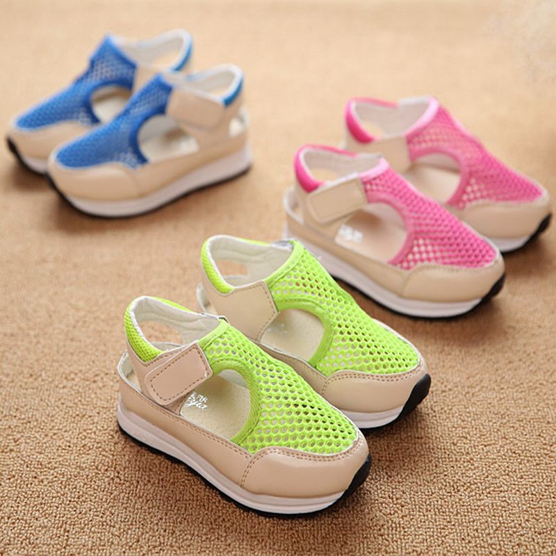 2016 spring and summer new Korean fashion shoes for boys and girls sandals hollow mesh